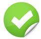 Green checkmark showing the right reasons to buy