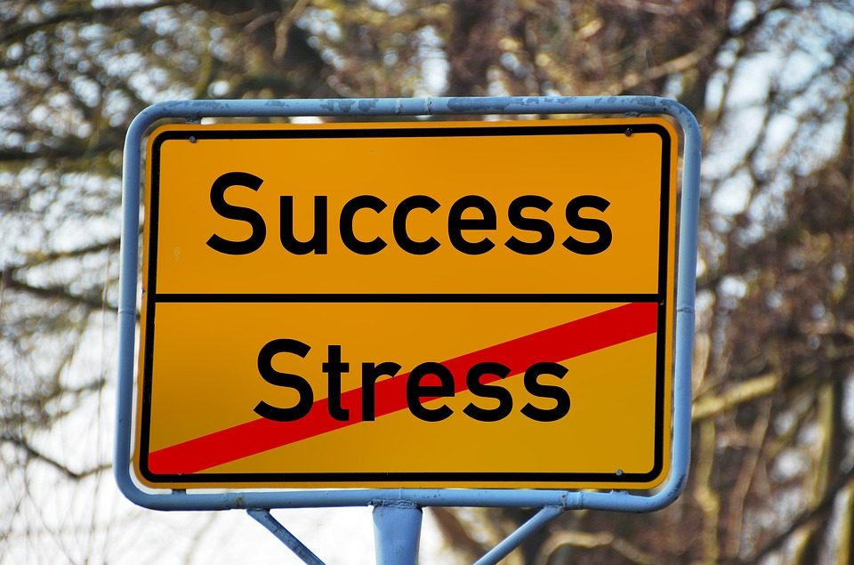 success is not equal to stress sign