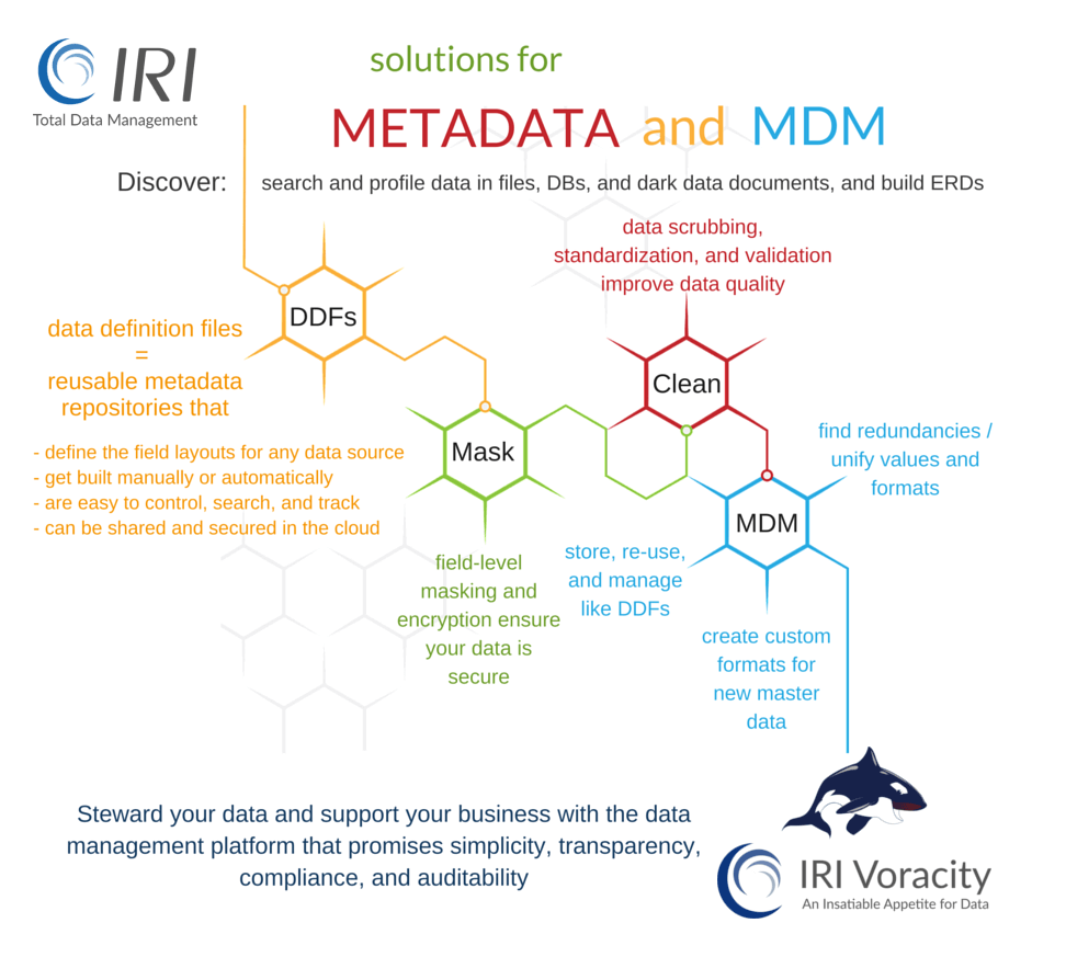 IRI solutions for metadata management and master data management (MDM) problems