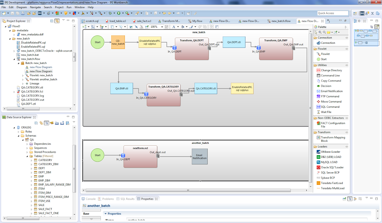 IRI ETL Workflow Diagram - Voracity (FACT, CoSort, DB Loaders, More)