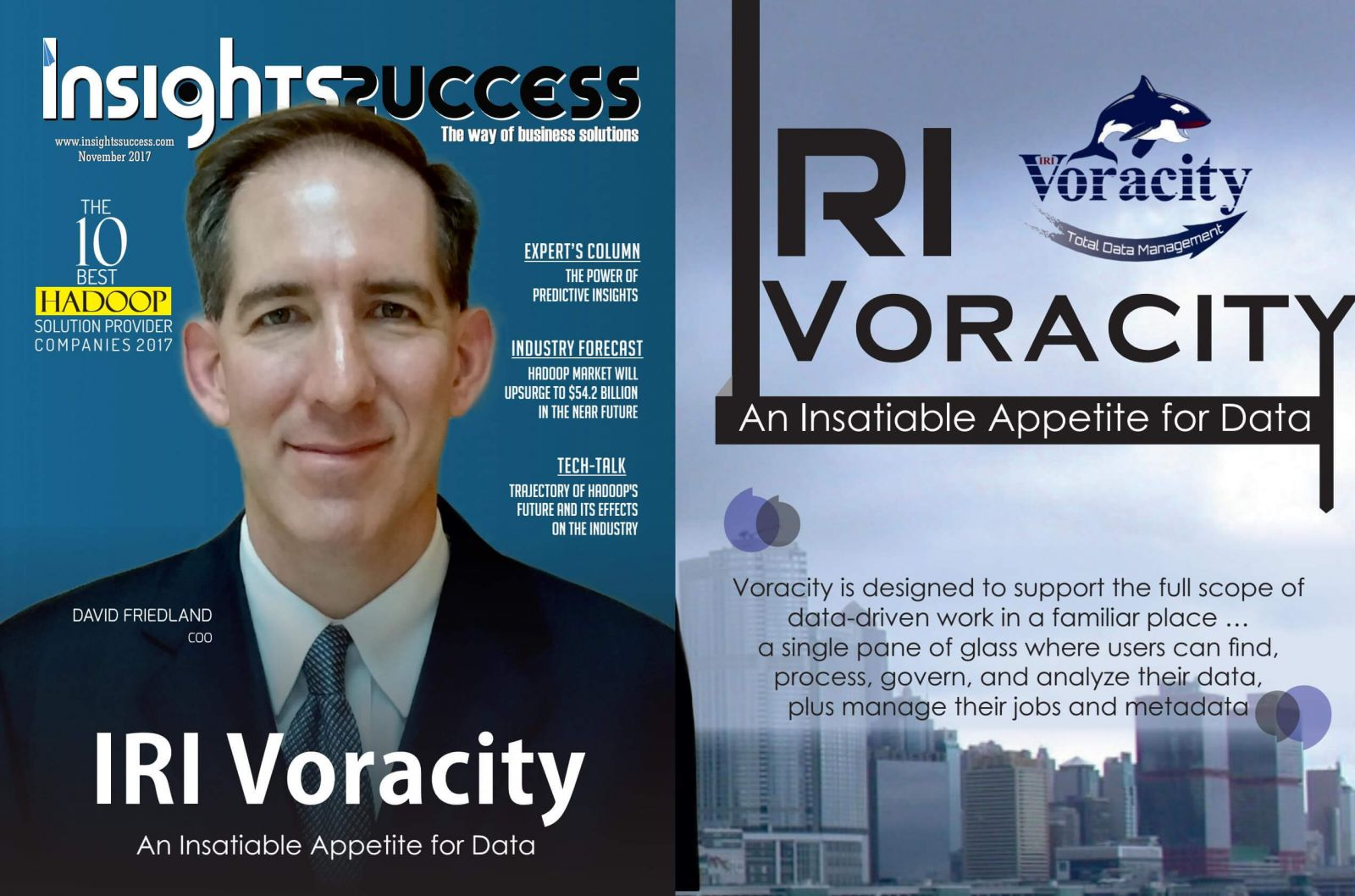 Voracity on the cover of Insights Success