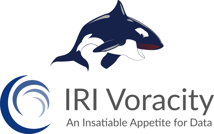IRI Voracity Platform Logo. Total data management built on Eclipse, powered by CoSort & Hadoop