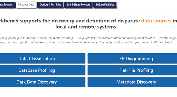 Data Discovery Landing Page