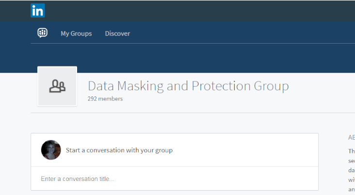 IRI Data Masking LinkedIn Group