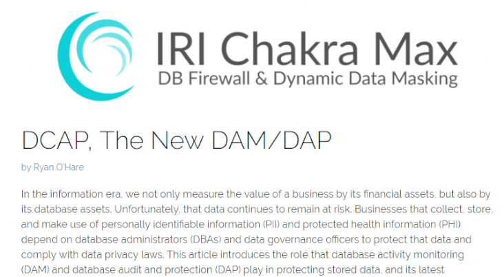 DCAP is the new DAM/DAP Blog