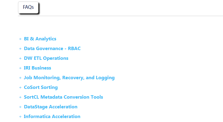 Oracle Acceleration FAQ page