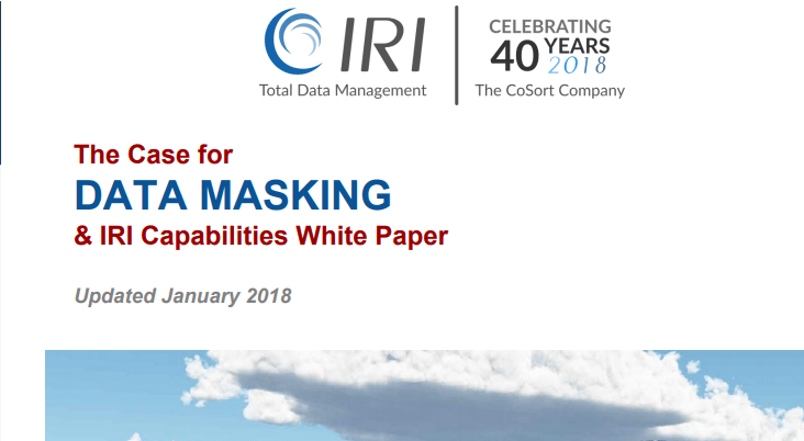 Cover of Data Masking White Paper
