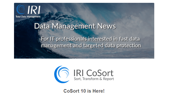 IRI Newsletter: Data Management News