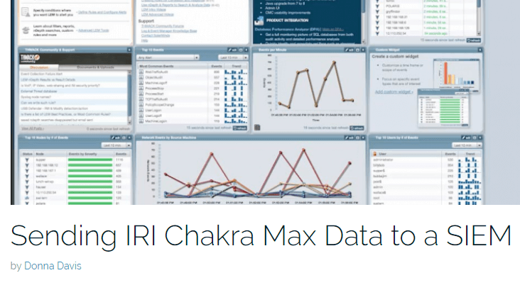 Sending IRI Chakra Max Data to a SIEM Blog