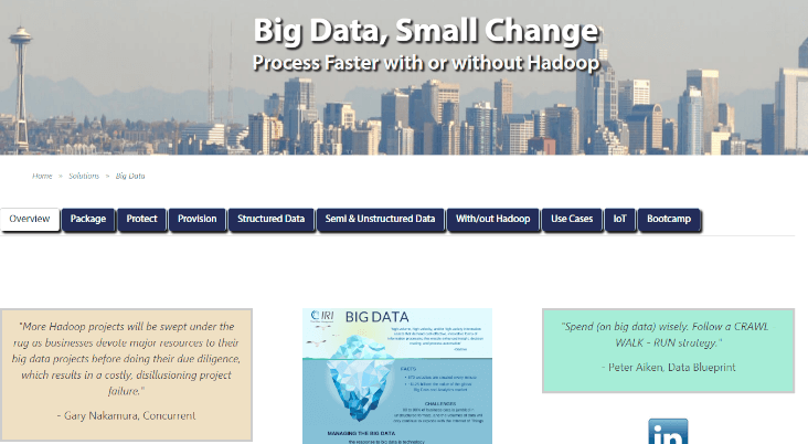 IRI Big Data Page