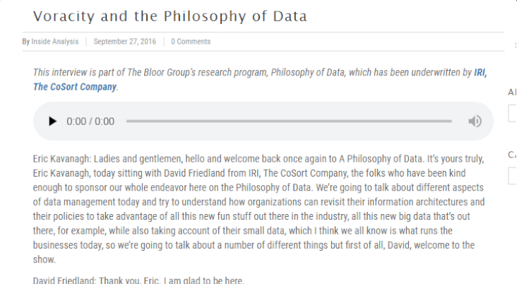 Philosophy of Data transcript screenshot
