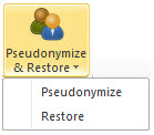 Psuedonymize & Restore button