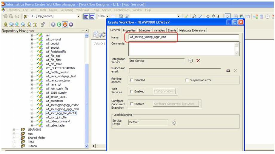 Creating a big data workflow in Informatica PowerCenter