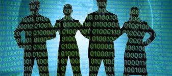 A team of associates reviewing metadata
