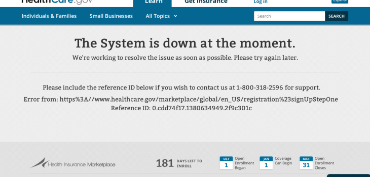system is down