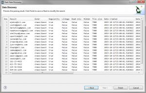 dark data preview screen
