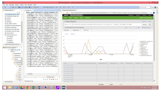Data Wrangling, Masking, and IRI Product Log Feeding for