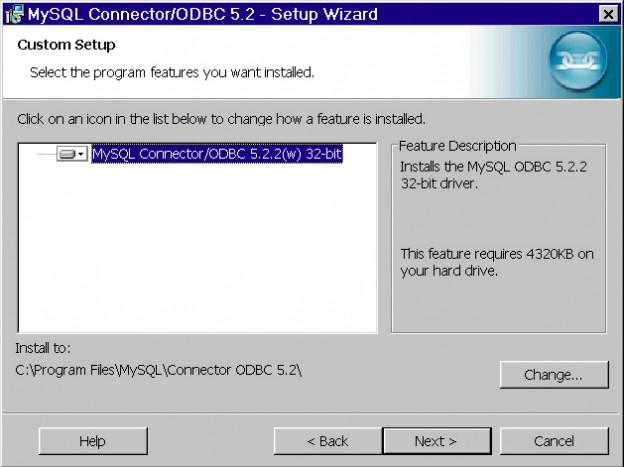 MySQL Connector/ODBC Setup Wizard