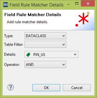 Field Rule Matcher Details