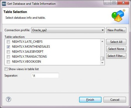 Get Database and Table Information