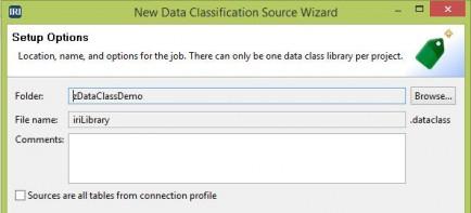 Data Classification Source Wizard Setup