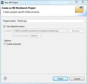 Create an IRI Workbench Project