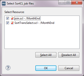 Select SortCL job files