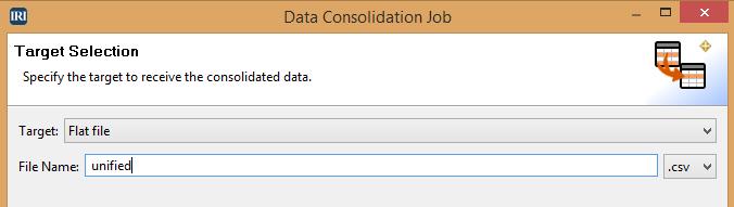 Data Consolidation Job-Target Selection