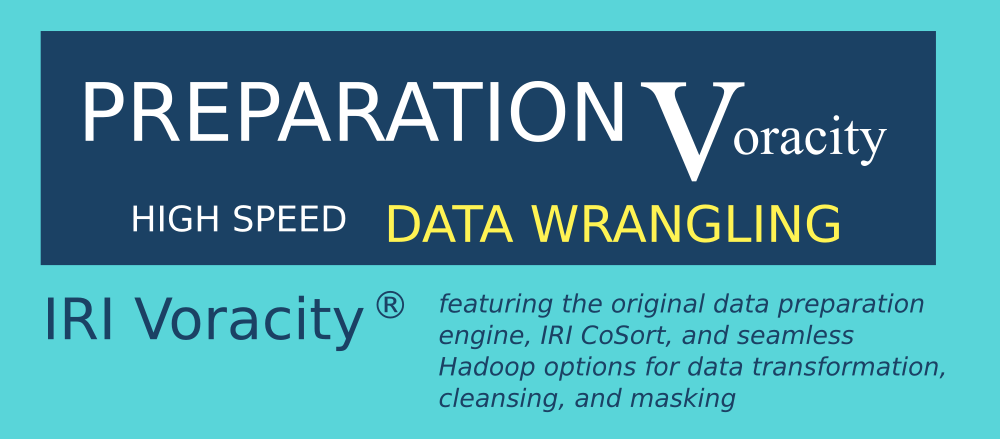 voracity total data management for data wrangling