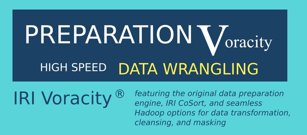 voracity total data management for data wrangling