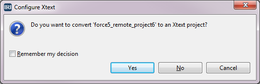 Configure Xtext