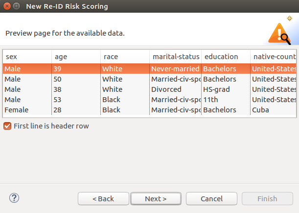 new de-id risk scoring preview