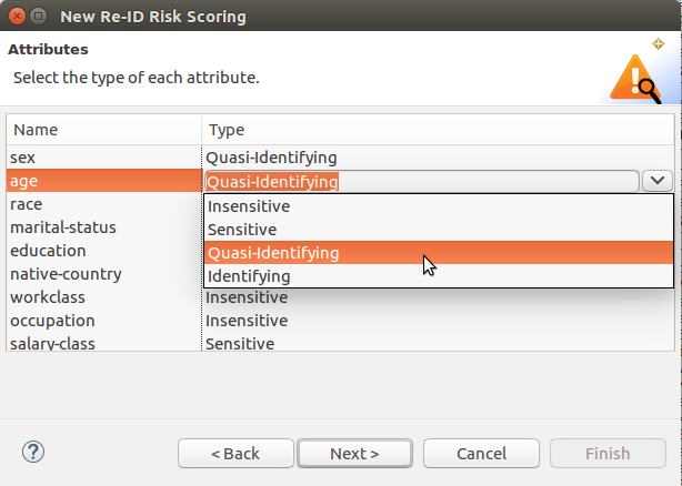 risk scoring attributes