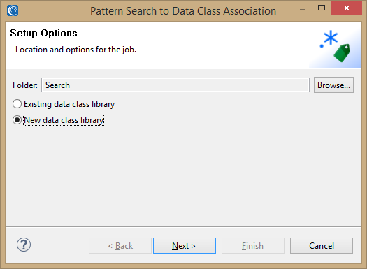 pattern search data class association setup options