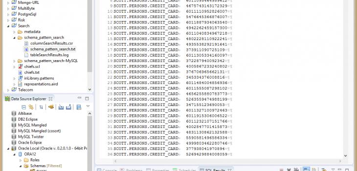 schema pattern search txt file