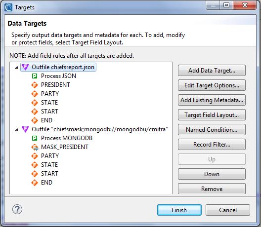 native mongodb masking data targets