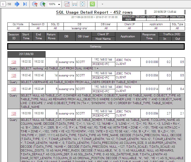 auditing db activity chakra max screenshot 4
