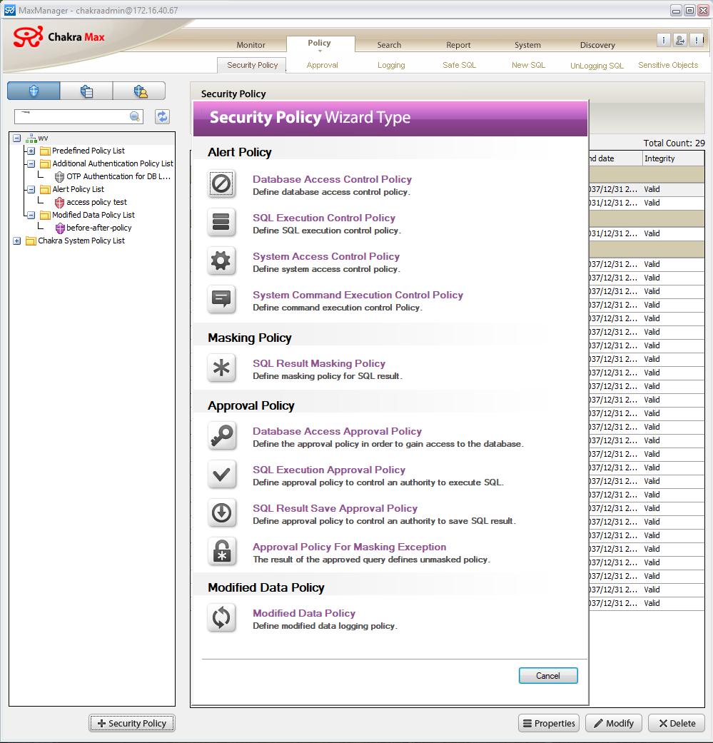 Monitoring DB Activity in IRI Chakra Max 4