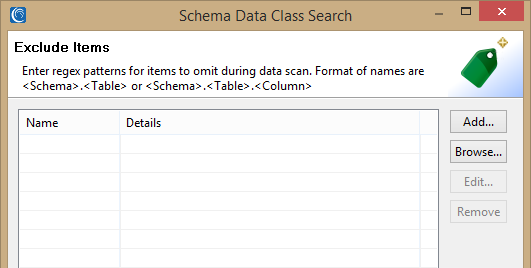 Schema data class search exclude items