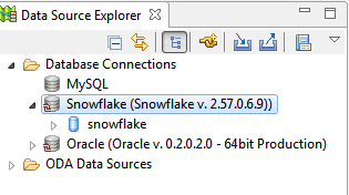 Snowflake data source explorer