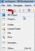 IRI Project dropdown