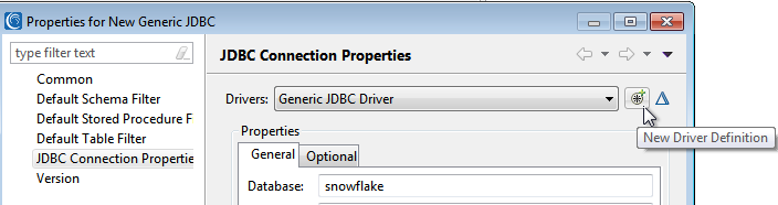 JDBC connection to snowflake driver