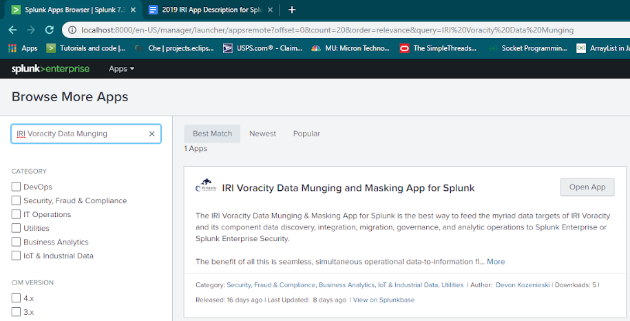 IRI app for Splunk